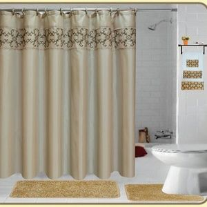 Other - 18 Pieces SHAGGY BATHROOM SETS BEIGE